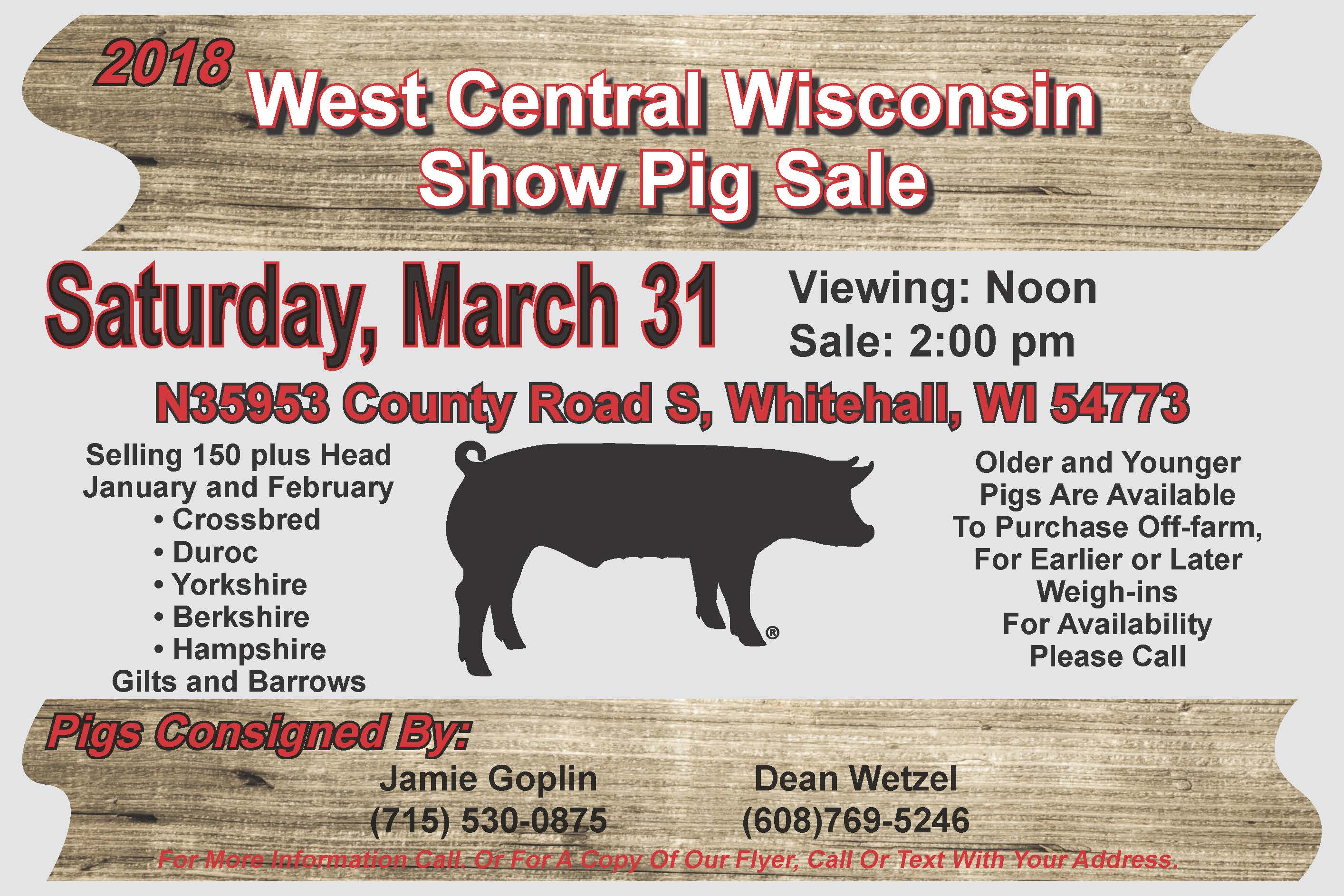 West Central WI Ad 2018 - Wisconsin Pork
